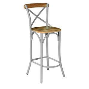 Rosenberg Bar Chair (Grey) by Urban Ladder