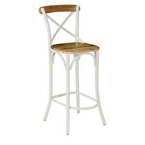Rosenberg Bar Chair (Cream) by Urban Ladder
