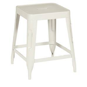 Soren Metal Stool (Cream) by Urban Ladder