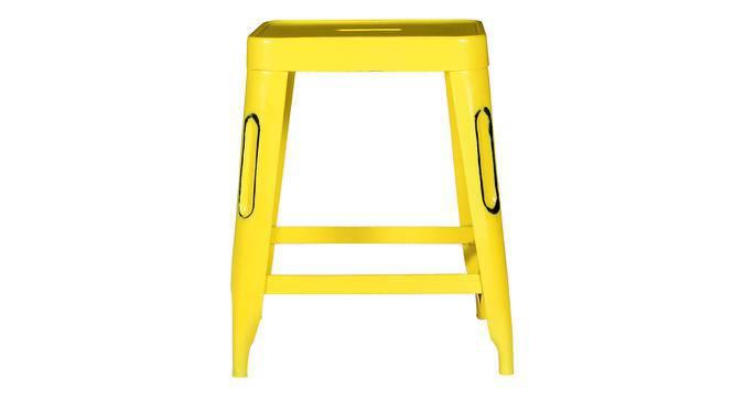 Soren Metal Stool (Yellow) by Urban Ladder