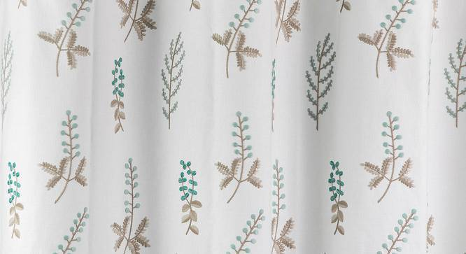 "Helmsley Embroidered Curtain - Set Of 2 (Aqua, 52""x84"" Curtain Size) by Urban Ladder"