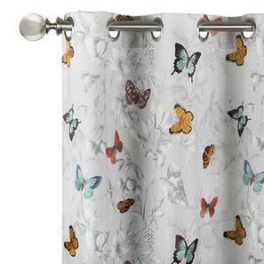"Chrysalis Embroidered Curtain - Set Of 2 (52""x84"" Curtain Size, Amoga - Evening Mist)"