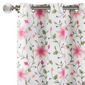 "Isabella Embroidered Curtain - Set Of 2 (Pink, 52""x84"" Curtain Size)"