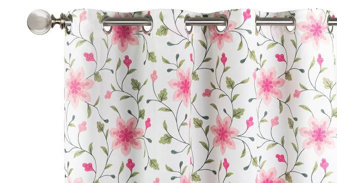 "Isabella Embroidered Curtain - Set Of 2 (Pink, 52""x84"" Curtain Size) by Urban Ladder"