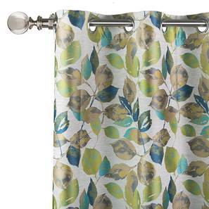 "Arlington Jacquard Curtain - Set Of 2 (Blue, 52""x84"" Curtain Size) by Urban Ladder"