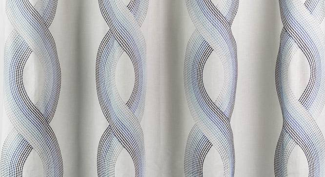 """Mosedale Embroidered Curtains - Set Of 2 (Blue, 52""""x84"""" Curtain Size) by Urban Ladder"""