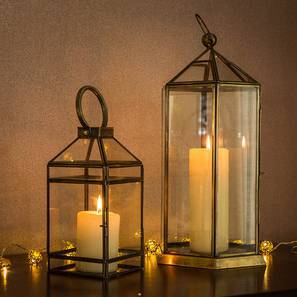 Ilka and Marici Lantern Set (Antique Brass Finish)