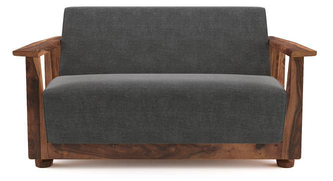 Serra Wooden Sofa 2 Seater (Teak Finish, Smoke) by Urban Ladder
