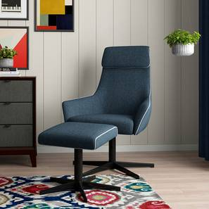 Hastings Swivel Lounge Chair With Ottoman (Blue)