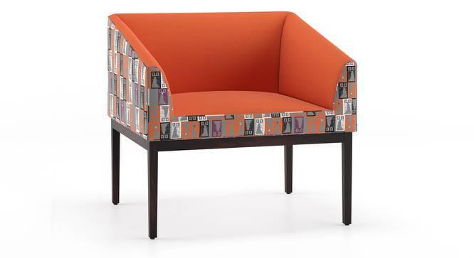 Orita Arm Chair (Orange - Owl Prowl) by Urban Ladder