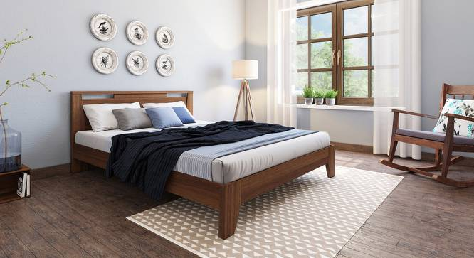 Pavis Bed (Walnut Finish, Queen Bed Size) by Urban Ladder