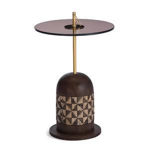 Basera Side Table (Teak Finish, Tall Size) by Urban Ladder