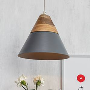 Soleil Pendant Light (Single Arrangement, Matte Grey Shade Finish) by Urban Ladder