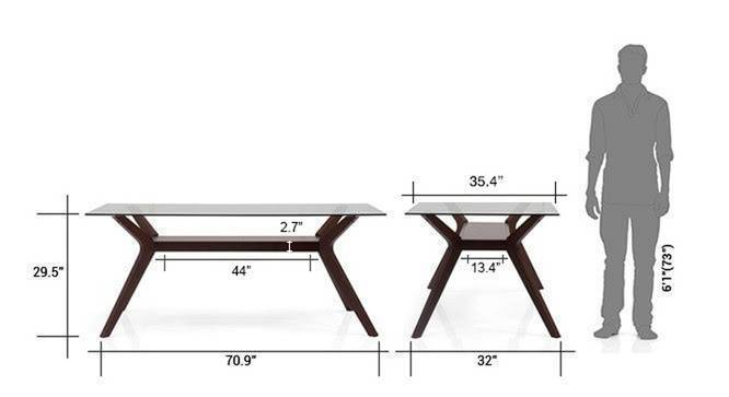 Wesley thomson 6 seater dining table set beige 7
