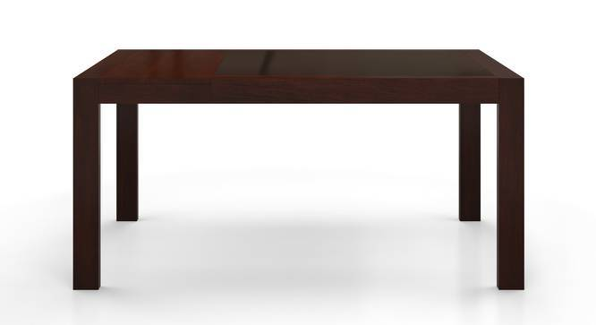 Vanalen 4 to 6 Extendable - Dalla 6 Seater Glass Top Dining Table Set (Beige, Dark Walnut Finish) by Urban Ladder