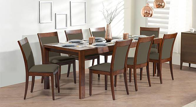 Vanalen 6 To 8 Extendable   Dalla 8 Seater Glass Top Dining Table Set