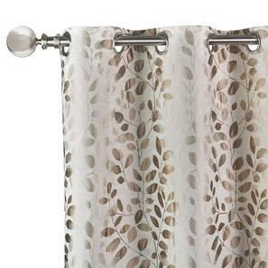 "Fenton Jacquard Curtain - Set Of 2 (Green, 52""x104"" Curtain Size) by Urban Ladder"