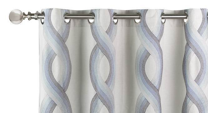 "Mosedale Embroidered Curtains - Set Of 2 (Blue, 52""x104"" Curtain Size) by Urban Ladder"