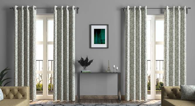 "Foglia Curtains - Set Of 2 (Grey, Door Curtain Type, 52""x104"" Curtain Size) by Urban Ladder"