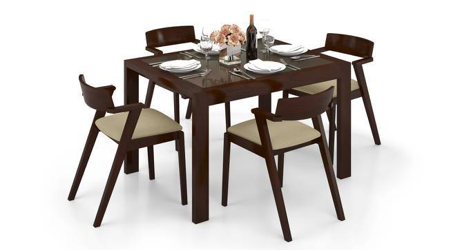 Vanalen 4 To 6 Extendable Thomson 4 Seater Glass Top