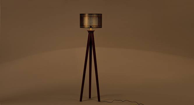 Planck Floor Lamp (Brown) by Urban Ladder