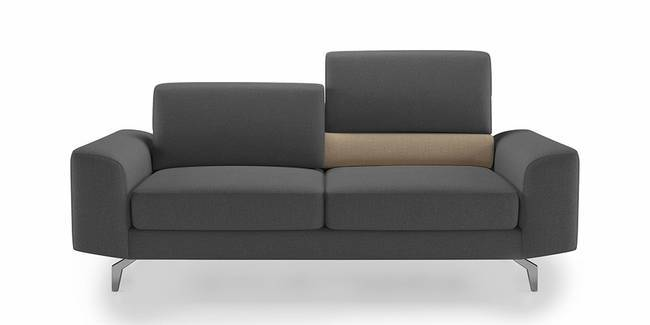 Norton Adjustable Sofa (Grey) (Grey, 3-seater Custom Set - Sofas, None Standard Set - Sofas, Fabric Sofa Material, Regular Sofa Size, Regular Sofa Type)