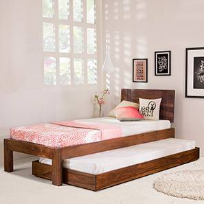 Yorktown Single Bed (Teak Finish, With Trundle)
