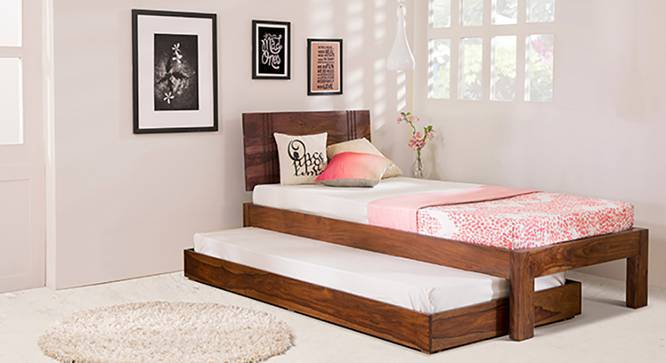 Yorktown Single Bed (Teak Finish, With Trundle) by Urban Ladder