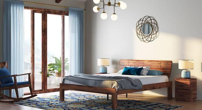 Marieta Bed (Teak Finish, King Bed Size) by Urban Ladder