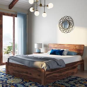 Marieta Storage Bed (Teak Finish, King Bed Size) by Urban Ladder