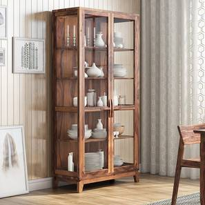 Akira Crockery Unit (Teak Finish, XL Size)