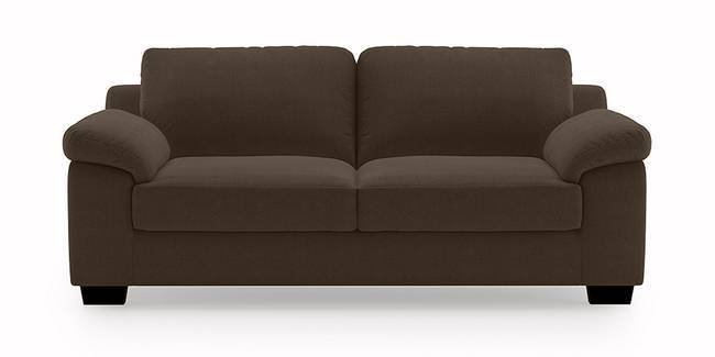 Esquel Sofa (Dark Brown) (3-seater Custom Set - Sofas, None Standard Set - Sofas, Dark Brown, Fabric Sofa Material, Regular Sofa Size, Regular Sofa Type)