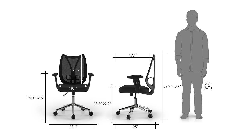 Amoruso study chair black 9