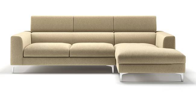 Chelsea Adjustable Sectional Sofa (Beige) (None Custom Set - Sofas, Left Aligned 3 seater + Chaise Standard Set - Sofas, Beige, Fabric Sofa Material, Regular Sofa Size, Sectional Sofa Type)