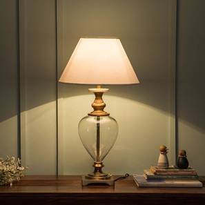 Table lamps and lighting online buy table lamps online in india rossetti table lamp brass base finish white shade color conical shade shape aloadofball Choice Image