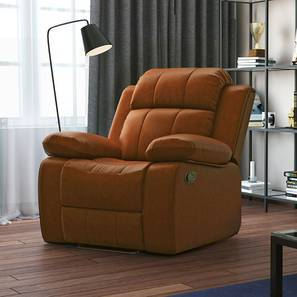 Robert Recliner (Tan Leatherette) by Urban Ladder