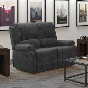Tribbiani Two Seater Recliner Sofa (Grey) by Urban Ladder