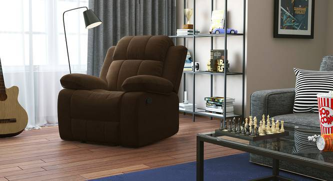 Robert Recliner (Carafe Brown Fabric) by Urban Ladder