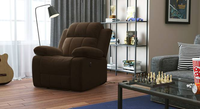 Robert Motorized Recliner (Carafe Brown Fabric) by Urban Ladder