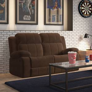 Robert Two Seater Recliner Sofa (Carafe Brown Fabric)