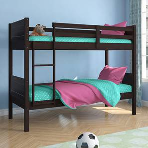 Lisbon Bunk Bed (Dark Walnut Finish, Without Storage) by Urban Ladder