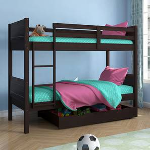 Lisbon Bunk Bed (Dark Walnut Finish, With Storage)
