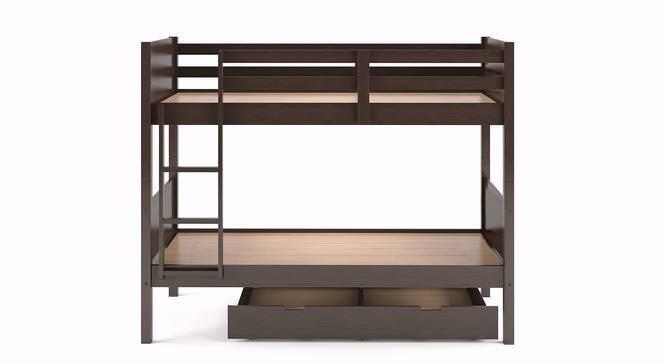 Lisbon Bunk Bed (Dark Walnut Finish, With Storage) by Urban Ladder