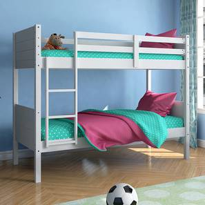 Lisbon Bunk Bed (White Finish, Without Storage)