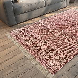 "Zayna Dhurrie (Red, 36"" x 60"" Carpet Size)"