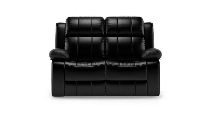 Robert Two Seater Recliner Sofa (Black Leatherette) by Urban Ladder