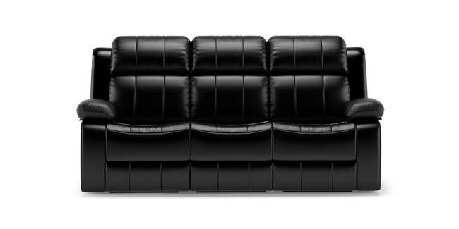 Robert Recliner Sofa Set (Black Leatherette) (1-seater Custom Set - Sofas, None Standard Set - Sofas, Leatherette Sofa Material, Regular Sofa Size, Regular Sofa Type, Black Leatherette)