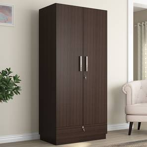 Bocado Wardrobe (Dark Walnut Finish, Two Door)