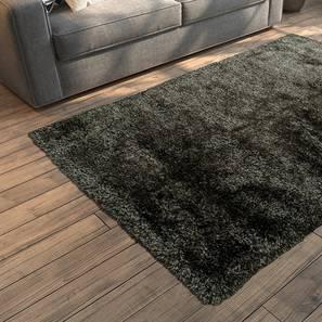 """Linton Shaggy Rug (Grey, 96"""" x 60"""" Carpet Size) by Urban Ladder"""