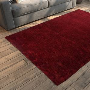 "Dartmoor Shaggy Rug (Red, 72"" x 48"" Carpet Size) by Urban Ladder"